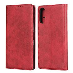 Coque Portefeuille Livre Cuir Etui Clapet pour Sony Xperia L4 Rouge