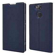 Coque Portefeuille Livre Cuir Etui Clapet pour Sony Xperia XA2 Plus Bleu