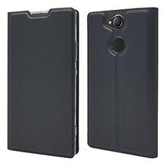 Coque Portefeuille Livre Cuir Etui Clapet pour Sony Xperia XA2 Plus Noir