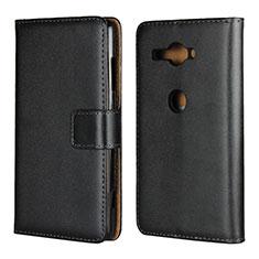 Coque Portefeuille Livre Cuir Etui Clapet pour Sony Xperia XZ2 Compact Noir