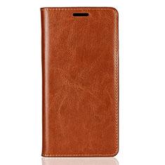 Coque Portefeuille Livre Cuir Etui Clapet pour Sony Xperia XZ2 Orange