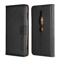 Coque Portefeuille Livre Cuir Etui Clapet pour Sony Xperia XZ2 Premium Noir