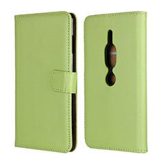 Coque Portefeuille Livre Cuir Etui Clapet pour Sony Xperia XZ2 Premium Vert