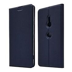 Coque Portefeuille Livre Cuir Etui Clapet pour Sony Xperia XZ3 Bleu