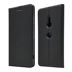 Coque Portefeuille Livre Cuir Etui Clapet pour Sony Xperia XZ3 Noir
