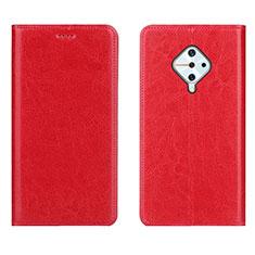 Coque Portefeuille Livre Cuir Etui Clapet pour Vivo S1 Pro Rouge