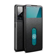 Coque Portefeuille Livre Cuir Etui Clapet pour Vivo X50 Pro 5G Noir