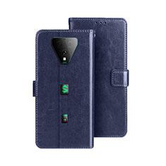 Coque Portefeuille Livre Cuir Etui Clapet pour Xiaomi Black Shark 3 Pro Bleu