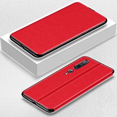Coque Portefeuille Livre Cuir Etui Clapet pour Xiaomi Mi 10 Pro Rouge