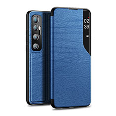 Coque Portefeuille Livre Cuir Etui Clapet pour Xiaomi Mi 10 Ultra Bleu