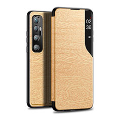 Coque Portefeuille Livre Cuir Etui Clapet pour Xiaomi Mi 10 Ultra Or