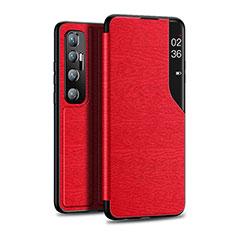 Coque Portefeuille Livre Cuir Etui Clapet pour Xiaomi Mi 10 Ultra Rouge