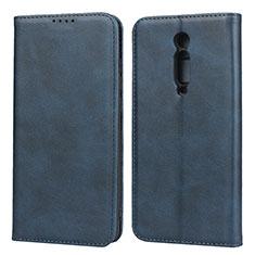 Coque Portefeuille Livre Cuir Etui Clapet pour Xiaomi Mi 9T Pro Bleu