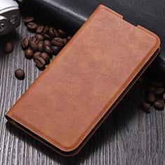 Coque Portefeuille Livre Cuir Etui Clapet pour Xiaomi Mi Note 10 Marron