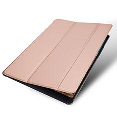 Coque Portefeuille Livre Cuir Etui Clapet pour Xiaomi Mi Pad 4 Or Rose