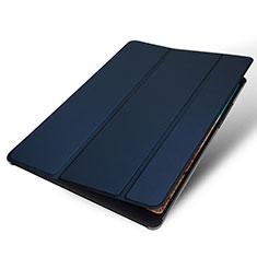 Coque Portefeuille Livre Cuir Etui Clapet pour Xiaomi Mi Pad 4 Plus 10.1 Bleu