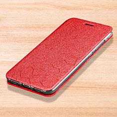 Coque Portefeuille Livre Cuir Etui Clapet pour Xiaomi Mi Play 4G Rouge
