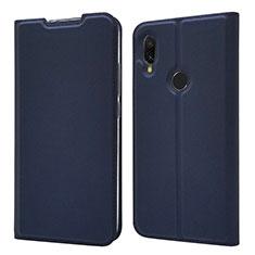 Coque Portefeuille Livre Cuir Etui Clapet pour Xiaomi Redmi 7 Bleu