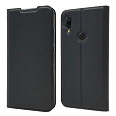 Coque Portefeuille Livre Cuir Etui Clapet pour Xiaomi Redmi 7 Noir