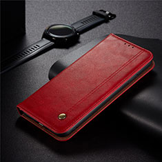 Coque Portefeuille Livre Cuir Etui Clapet pour Xiaomi Redmi 9C NFC Rouge
