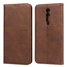 Coque Portefeuille Livre Cuir Etui Clapet pour Xiaomi Redmi K20 Marron