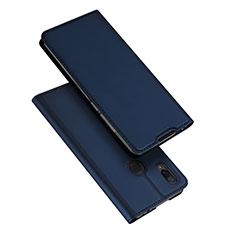 Coque Portefeuille Livre Cuir Etui Clapet pour Xiaomi Redmi Note 7 Bleu