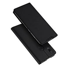Coque Portefeuille Livre Cuir Etui Clapet pour Xiaomi Redmi Note 7 Noir