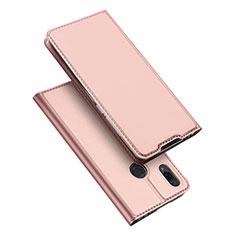 Coque Portefeuille Livre Cuir Etui Clapet pour Xiaomi Redmi Note 7 Or Rose