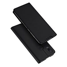 Coque Portefeuille Livre Cuir Etui Clapet pour Xiaomi Redmi Note 7 Pro Noir