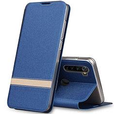Coque Portefeuille Livre Cuir Etui Clapet pour Xiaomi Redmi Note 8 Bleu