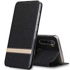 Coque Portefeuille Livre Cuir Etui Clapet pour Xiaomi Redmi Note 8 Noir