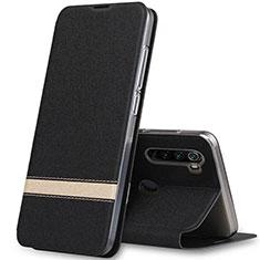 Coque Portefeuille Livre Cuir Etui Clapet pour Xiaomi Redmi Note 8T Noir