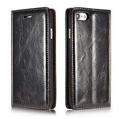 Coque Portefeuille Livre Cuir Etui Clapet T01 pour Apple iPhone SE (2020) Noir