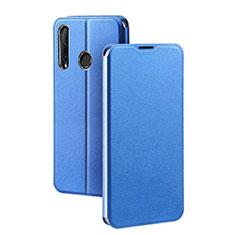 Coque Portefeuille Livre Cuir Etui Clapet T01 pour Huawei Honor 20 Lite Bleu