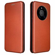 Coque Portefeuille Livre Cuir Etui Clapet T01 pour Huawei Mate 40 Marron