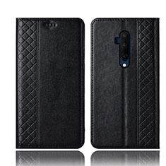 Coque Portefeuille Livre Cuir Etui Clapet T01 pour OnePlus 7T Pro Noir