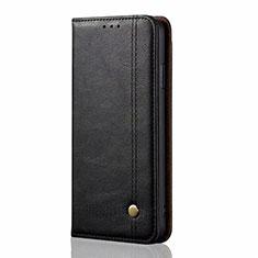 Coque Portefeuille Livre Cuir Etui Clapet T01 pour Oppo A92 Noir