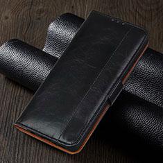 Coque Portefeuille Livre Cuir Etui Clapet T01 pour Xiaomi Redmi Note 9 Pro Noir