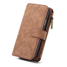 Coque Portefeuille Livre Cuir Etui Clapet T02 pour Apple iPhone XR Orange