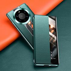 Coque Portefeuille Livre Cuir Etui Clapet T02 pour Huawei Mate 40 Pro+ Plus Vert
