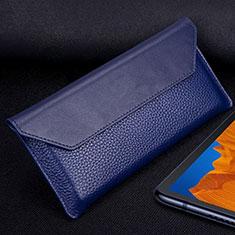 Coque Portefeuille Livre Cuir Etui Clapet T02 pour Huawei Mate Xs 5G Bleu
