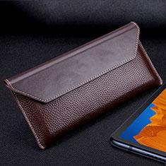 Coque Portefeuille Livre Cuir Etui Clapet T02 pour Huawei Mate Xs 5G Marron