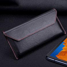 Coque Portefeuille Livre Cuir Etui Clapet T02 pour Huawei Mate Xs 5G Noir