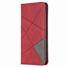 Coque Portefeuille Livre Cuir Etui Clapet T02 pour Huawei P Smart (2020) Rouge