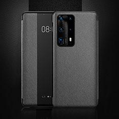 Coque Portefeuille Livre Cuir Etui Clapet T02 pour Huawei P40 Pro+ Plus Noir