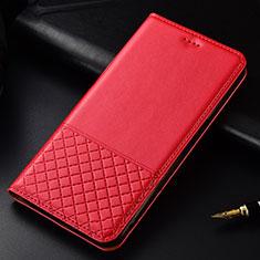 Coque Portefeuille Livre Cuir Etui Clapet T02 pour OnePlus 7T Pro Rouge