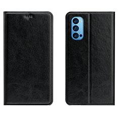 Coque Portefeuille Livre Cuir Etui Clapet T02 pour Oppo Reno4 Pro 5G Noir
