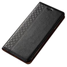 Coque Portefeuille Livre Cuir Etui Clapet T02 pour Samsung Galaxy A80 Noir