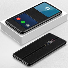 Coque Portefeuille Livre Cuir Etui Clapet T02 pour Xiaomi Mi 9T Pro Noir