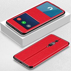 Coque Portefeuille Livre Cuir Etui Clapet T02 pour Xiaomi Mi 9T Pro Rouge